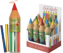 Simon Coll Milk Chocolate Pencils In A Wax Crayon Container